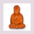 Buddha längs gelocht