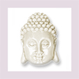 Buddhakopf längs gelocht , hinten flach