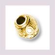 Perle gemustert, 2mm Loch