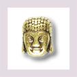Buddhakopf längs gelocht